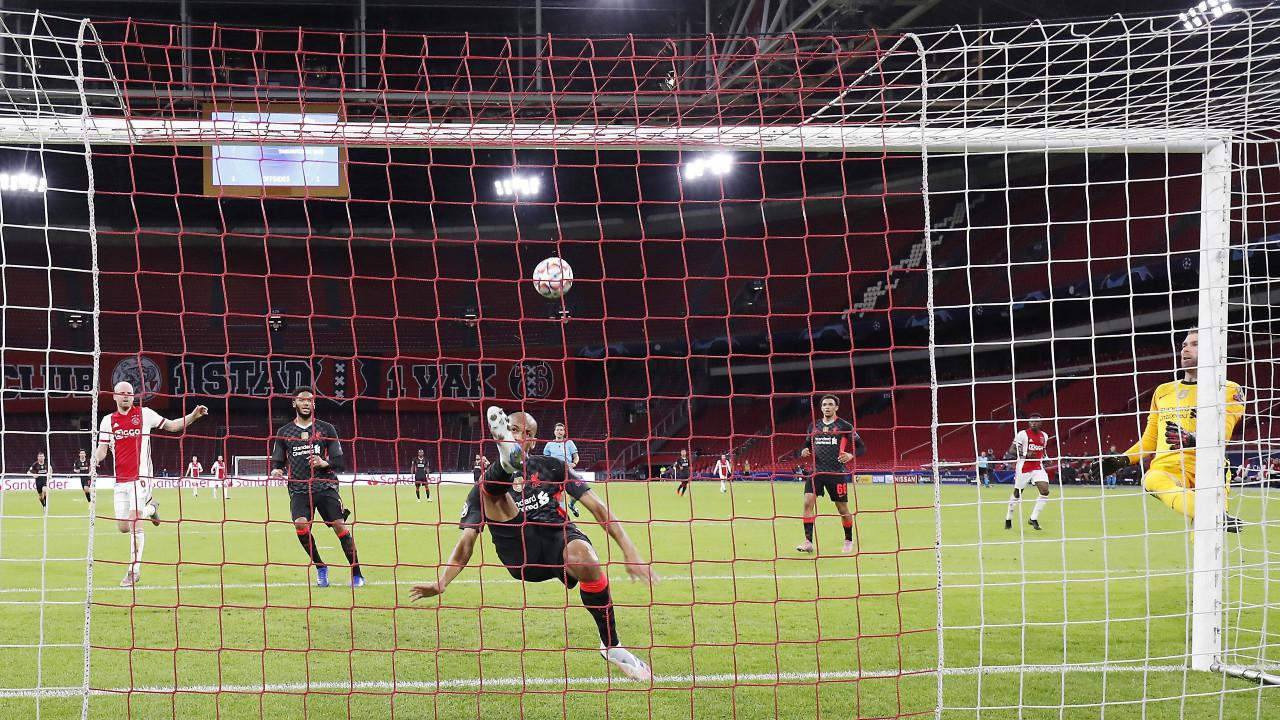 Fabinho se agigantou na zaga, e o Liverpool arrancou uma vitória suada em  Amsterdã |