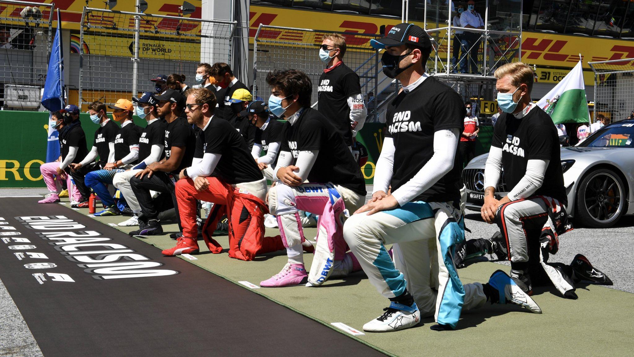 Manifestação antirracista F1, GP da Áustria 2020