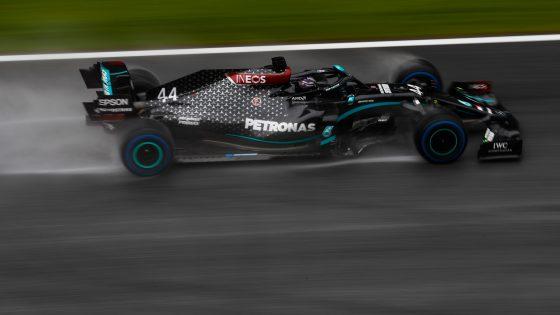 Hamilton de Mercedes no GP da Estíria, na Áustria