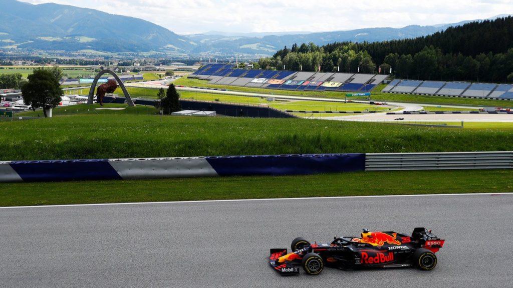Red Bull de Max Verstappen no GP da Estíria (crédito: Twitter / Red Bull Racing)