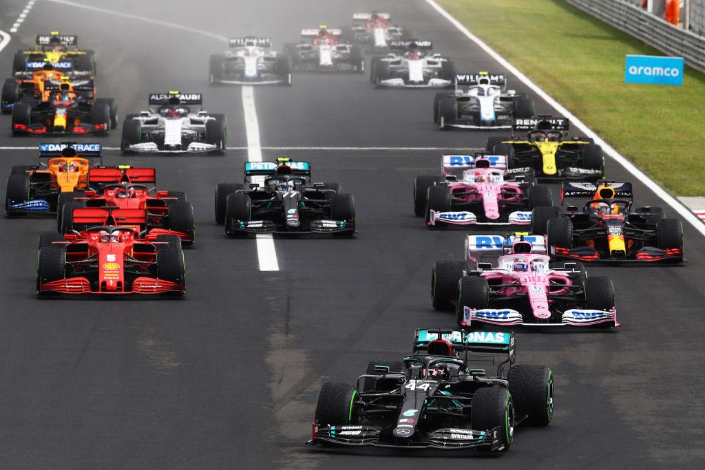 largada GP da Hungria 2020