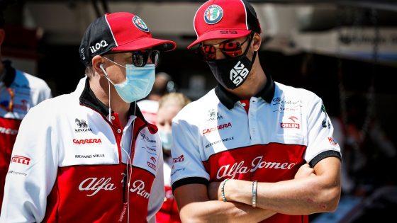 Kimi Räikkönen, Antonio Giovinazzi, Alfa Romeo 2020,
