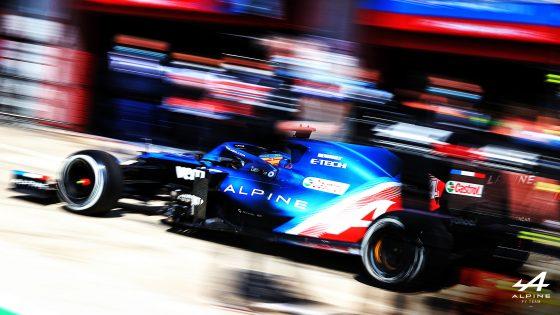 Fernando Alonso, Alpine, GP de Portugal 2021,