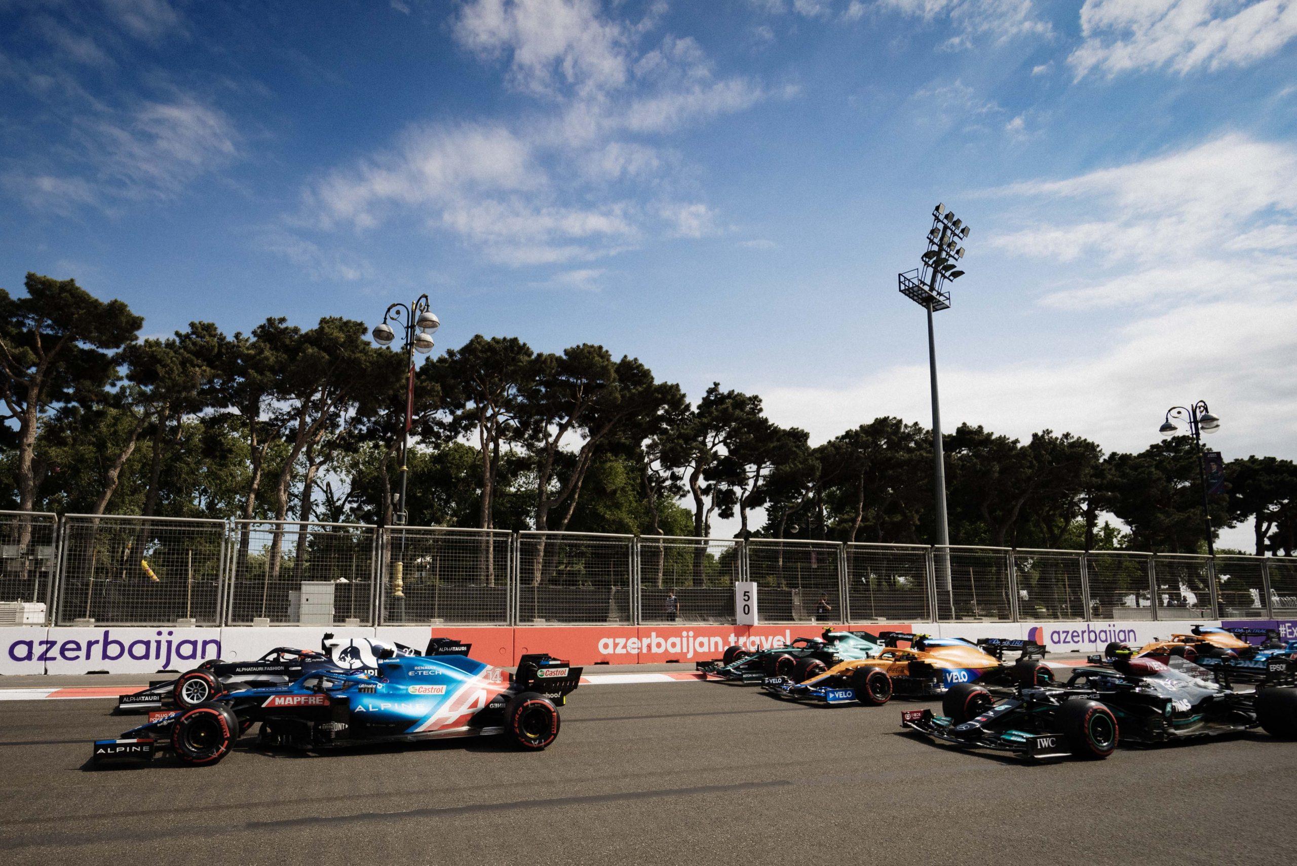 Fernando Alonso, Alpine, GP de Baku 2021,